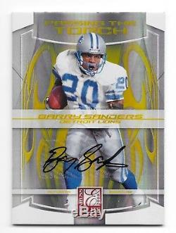 Barry Sanders Adrian Peterson 2008 Passing The Torch Dual Autograph 16/25 Auto