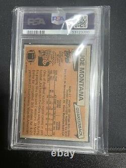 Beautiful 1981 Topps #216 Joe Montana Rookie PSA 8 NMMT RC SF 49ers