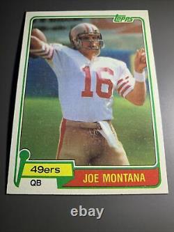 Beautiful Example! 1981 Topps Joe Montana Rookie Rc Psa 8-9 Get Graded! #99d