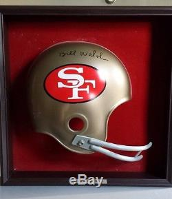 Bill Walsh Autographed San Francisco 49ers Football Helmet Plaque Placo Inc. USA