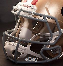 CUSTOM SAN FRANCISCO 49ers NFL Riddell Full Size SPEED Football Helmet
