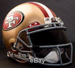 CUSTOM SAN FRANCISCO 49ers NFL Riddell ProLine AUTHENTIC Football Helmet