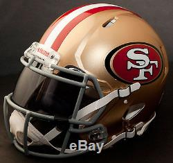 CUSTOM SAN FRANCISCO 49ers NFL Riddell Revolution SPEED Football Helmet