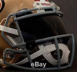 CUSTOM SAN FRANCISCO 49ers NFL Riddell Speed AUTHENTIC Football Helmet
