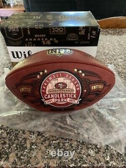 Candlestick Park Signed Wilson DUKE Football Joe Montana Jerry Rice 25/100 COA