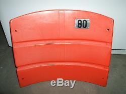 Candlestick Park Stadium seat back #80 Jerry Rice San Francisco 49ers Orange
