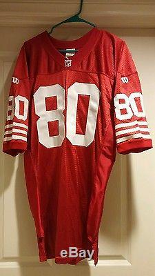 Circa 1993 49ers Jerry Rice Game style authentic Wilson home jersey, signed