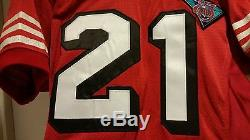 Circa 1994 49ers Deion Sanders Game issued Wilson home jersey, TBTC 75th