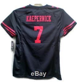 Colin Kaepernick Nike Women's Black San Francisco 49ers Jersey NWTS