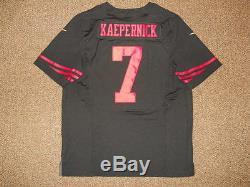 Colin Kaepernick San Francisco 49ers Black Authentic Nike Elite Jersey sz 48 New