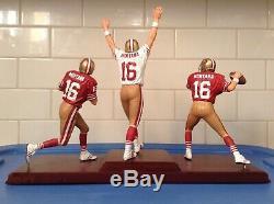 DANBURY MINT SAN FRANCISCO 49ers JOE MONTANA 3 FIGURE SET with the C. O. A