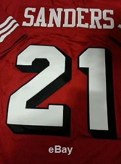 Deion Sanders 1994 San Francisco 49ers Mitchell & Ness Authentic Jersey Sz 44 L