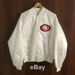 DSWT Vintage 80s 49ers Chalkline Jacket Sz XL Starter Big Logo Satin Rare