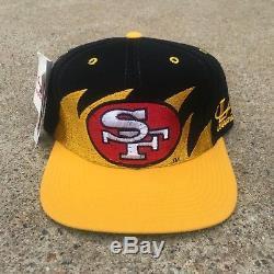 Deadstock RARE Vintage Logo Athletic San Francisco 49ers Sharktooth Snapback