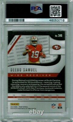Deebo Samuel 2019 Prizm White Sparkle Ssp Rookie #346 Psa 10 Gem Mint 49ers NFL