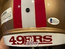 Deebo Samuel Autographed San Francisco 49ers Full Size Helmet Witness Beckett