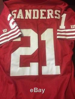 Deion Sanders Vintage 1994 Authentic 49ers Jersey With NFL 75th Anniversry Patch