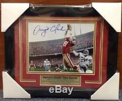 Dwight Clark Signed Autographed & Framed 8x10 Photo With JSA The Catch SF 49ers