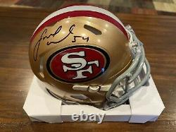 Fred Warner Autographed San Francisco 49ers Speed Mini Helmet Witness Beckett