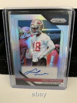 Fred Warner Silver Prizm 2018 Rookie Auto Rc All Pro 2020 49ers