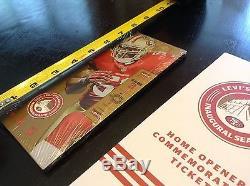 GOLD San Francisco 49ers Levi's Stadium Inaugural CERAMIC Ticket 2014