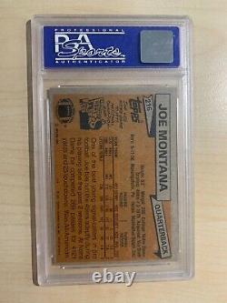 GRADED PSA 8 (OC)1981 TOPPS JOE MONTANA ROOKIE CARD NRMINT! RC HOF 48ers
