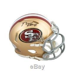 George Kittle Autographed San Francisco 49ers Speed Mini Football Helmet BAS COA