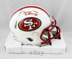 George Kittle Signed San Francisco 49ers Flat White Mini Helmet Beckett Auth
