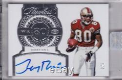 JERRY RICE 2017 Panini Flawless 49ers ENCASED RETIRED NUMBERS AUTO #d 2/5