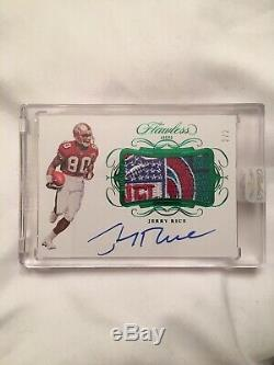 JERRY RICE 2019 Panini Flawless Football NFL shield Patch Auto