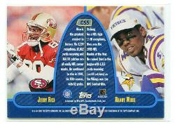 JERRY RICE/RANDY MOSS 1999 Topps Stadium Club Co-Signers Dual Auto Autograph HOF