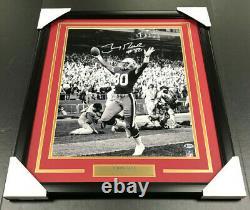 JERRY RICE San Francisco 49ERS SIGNED Autographed 16x20 Photo Framed BAS COA