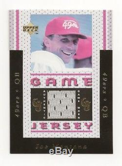 JOE MONTANA 1996 Upper Deck UD Game Used Jersey Card GJ3 49ers Rarely Listed