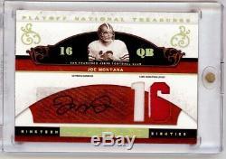 JOE MONTANA 2007 Playoff National Treasures NT Auto Autograph Patch 14/16 49ers