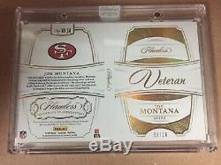 JOE MONTANA 2019 Flawless Patch Auto Booklet /10 San Francisco 49ers