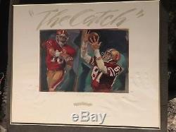 JOE MONTANA & DWIGHT CLARK SF 49ers signed THE CATCH autographed lithograph