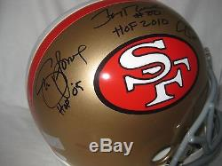 JOE MONTANA-JERRY RICE-STEVE YOUNG Signed/Autographed 49ers F/S Helmet withHOF-JSA