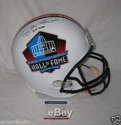 JOE MONTANA signed/auto'd HALL of FAME Full Size Helmet withHOF 2000 PSA ITP