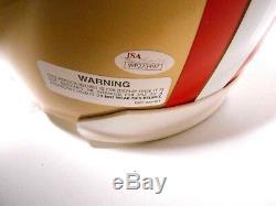 JSA Dwight Clark The Catch Play Drawn Autograph Signed FS 49ers Football Helmet