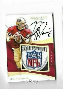 Jeff Garcia 2017 Immaculate NFL Shield 49ers Patch On Card Auto 1/1