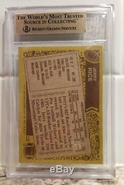 Jerry Rice 1986 Topps # 161 Rc Rookie Card Graded Bgs 9.5 Gem Mint