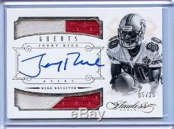 Jerry Rice 2014 Panini Flawless Greats DUAL PRIME PATCH AUTO SP /25 49ers RARE