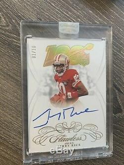 Jerry Rice 2019 Flawless NFL 100 Auto #'d 1/10 San Francisco 49ers