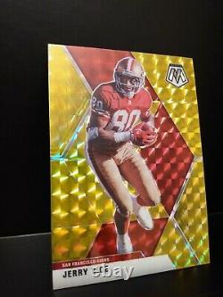 Jerry Rice 2020 Panini Mosaic Gold Prizm #/10 1st year Mosaic SSP 49ers HOF