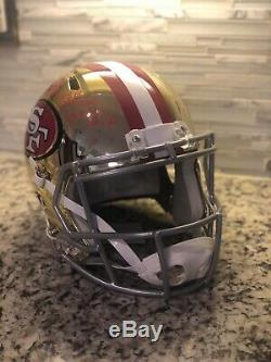 Jerry Rice 3x SB Champs XXIII MVP Signed Chrome Full Size Replica Helmet