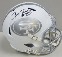 Jerry Rice 49ers Signed Hof Full Size Helmet Coa Bas Beckett Auto