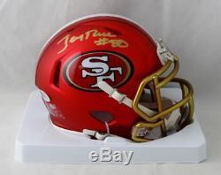 Jerry Rice #80 Autographed San Francisco 49ers Blaze Mini Helmet- Beckett Auth