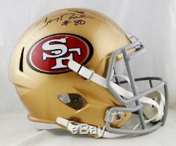 Jerry Rice #80 Autographed San Francisco 49ers F/S Speed Helmet- Beckett Auth
