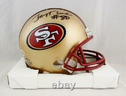 Jerry Rice Autographed San Francisco 49ers 96-08 TB Mini Helmet Beckett W Auth