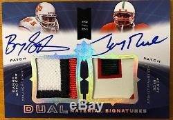 Jerry Rice Barry Sanders 2013 Upper Deck Exquisite Patch Auto AUTO Card 2/3